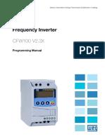 WEG Cfw100 Programming Manual 10002853582 2.3x Manual English