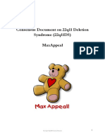 Consensus Document on 22q11 Deletion Syndrome