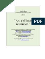 GILL Louis - Art, Politique Et Revolution