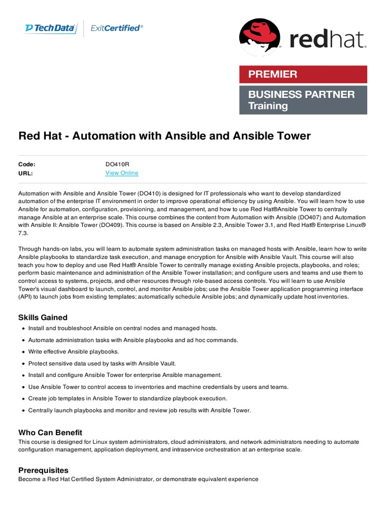 By Photo Congress || Red Hat Certified Specialist In Ansible