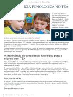 A Consciência Fonológica No TEA - Entendendo Autismo
