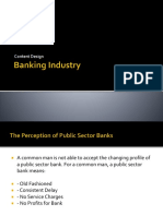Banking Industry- Content Design