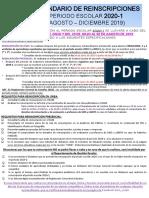 Calendario Reinscripciones Periodo Escolar 2020 1 (1)