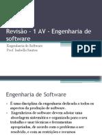 Revisão 1ª AV - Engenharia de Software