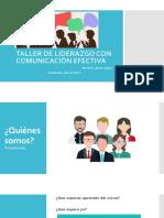 TALLER DE LIDERAZGO CON COMUNICACIÓN EFECTIVA