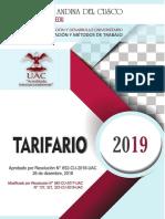 Tarifario Uac
