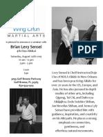 Levy Sensei Saturday Seminar in Gulf Breeze August 2019
