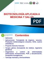 BIOTECNOLOGIA APLICADA A  LA MEDICINA