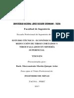 (Tesis) Estudio Tecnico - Economico Para La Reduccion de Tiros Cortados y Tiros Fallados en Mineria Superficial