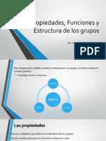 Propiedades, funciones y estructura de los grupos