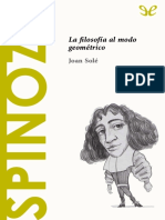Sole Joan - Descubrir La Filosofia 20 - Spinoza La Filosofia Al Modo Geometrico