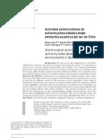 Actividad a de Actinomycetes