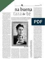 George Orwell sobre el té