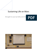 sustaining life on mars
