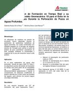 Pruebas de Presión de Formación en Tiempo Real y su Implicación en el Modelo Geomecánico 1D para el Éxito en la Toma de Decisiones Durante la Perforación de Pozos en Aguas Profundas.