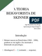 A Teoria Behavorista de Skinner