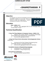 Dhamotharan New Updated Resume