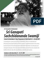 Sri ganapati satchidananda swami