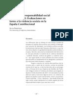 Feminismo y responsabilidad social en España - Evaluaciones en torno a la violencia sexista en la España Constitucional
