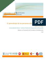 Franco, P. (2008). El aprendizaje de las personas adultas, teorías del aprendizaje