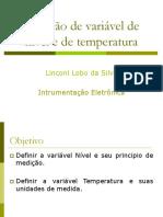 Medição de variável de nível e de temperatura