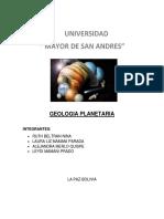 GEOLOGIA PLANETARIA