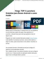 Launchers Gratuitos Para Boxes Top 5 Android e Como Mudar