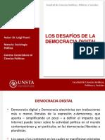 Los Desafíos de La Democracia Digital. Diapositivas