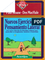 EJERCICIOS DE PENSAMIENTO LATERAL (MATEMATIC)