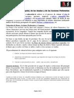 5.1.a Valuación Del Capital, De Las Deudas y de Las Acciones Preferentes