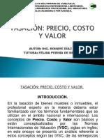 tasación: precio, costo y valor