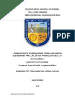 Tesis de Administracion de Maquinarias en Subterraneo