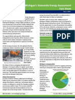 Michigan energy assessment fact sheet