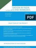 Tax Evasion in India Ppt