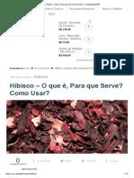 → Hibisco - O que é, Para que Serve_ Como Usar_ 【Atualizado 2018】