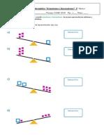 evaluación 5° ecuaciones e inecuaciones