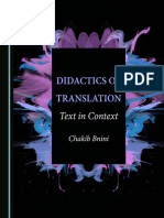 Chakib Bnini-Didactics of Translation_ Text in Context-Cambridge Scholars Publishing (2016)