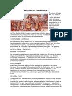 Imperio Inca o Tahuantinsuyo