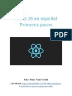 React JS en Español Primeros Pasos