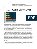 Fast Music Costs Lives