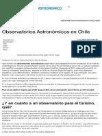 observatorios astronómicos