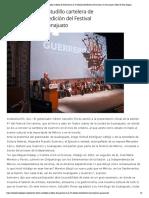 05-06-2019 Presenta Héctor Astudillo cartelera de Guerrero en la 47 edición del Festival Cervantino, en Guanajuato.