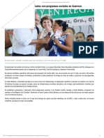07-06-2019 Cientos de Familias Beneficiadas Con Programas Sociales en Guerrero.