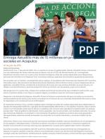 07-06-2019 Entrega Astudillo más de 15 millones en programas sociales en Acapulco.