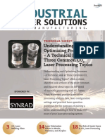 Understanding and Optimizing Processes a Technical Look at Three Common Co2 Laser Processing Topics