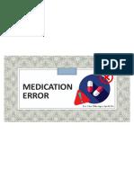 1. Medication Error