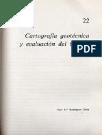 Cartografía Geotécnica y evaluación del terreno