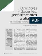 Anderson y Saldivia_Directores y Docentes. Contrincantes o Aliados. Repensando El Profesionalismo
