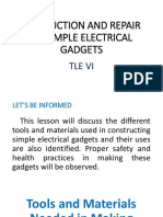PRODUCTION AND REPAIR OF SIMPLE ELECTRICAL GADGETStle6IA.pptx