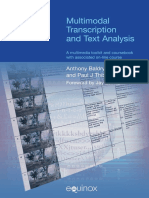 Multimodal Transcription and Text Analysis Anthony Baldry